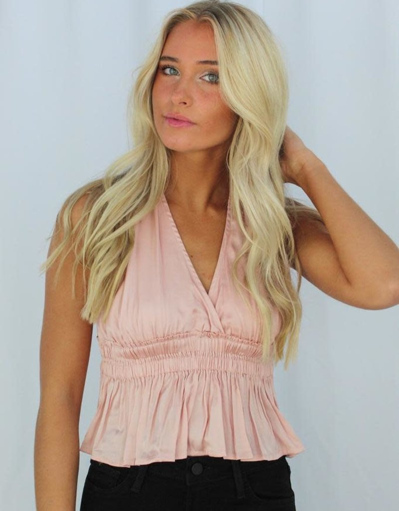 Cotton Candy Silky Baby Halter Top