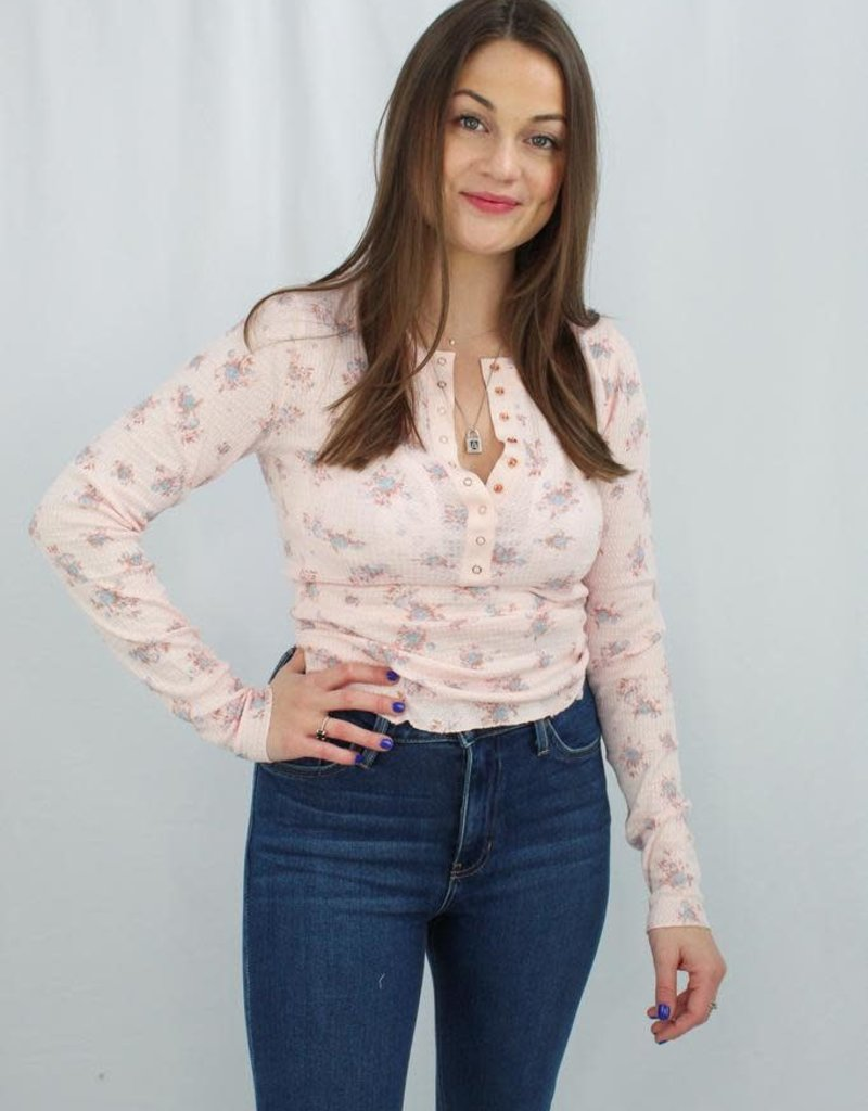 Free People One of the Girls Printed Top