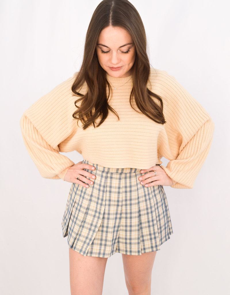 Cotton Candy Cover Girl Plaid Skort