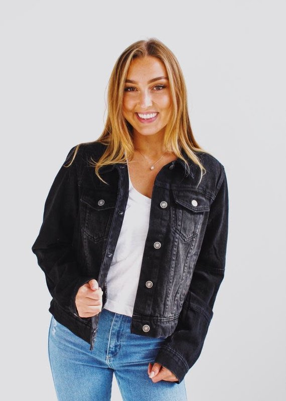 Free People OB896012-Rumors Denim Jacket