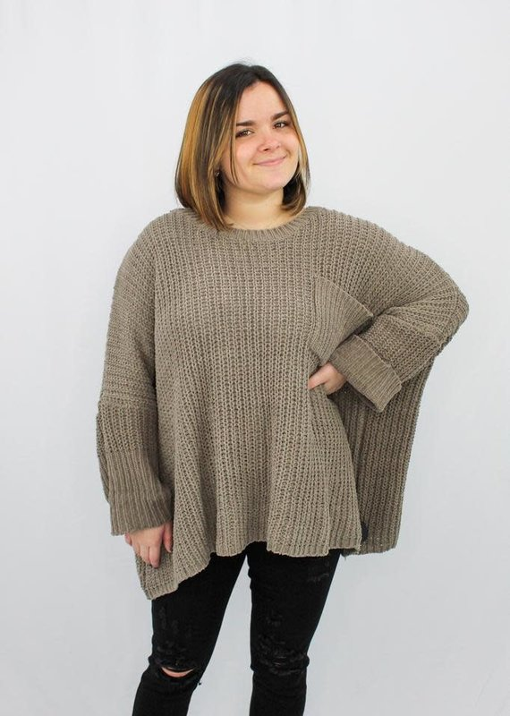 She + Sky Speak For Yourself Chenille Sweater