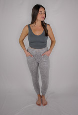 Ocean Drive Brushed Hacci Front Tie Jogger