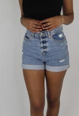 Daze Dad's Girl HR Denim Shorts