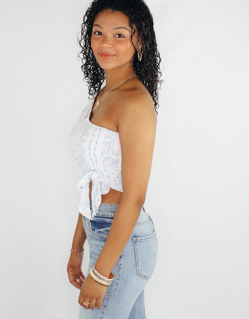 Vintage Havana One Shoulder Chic Top
