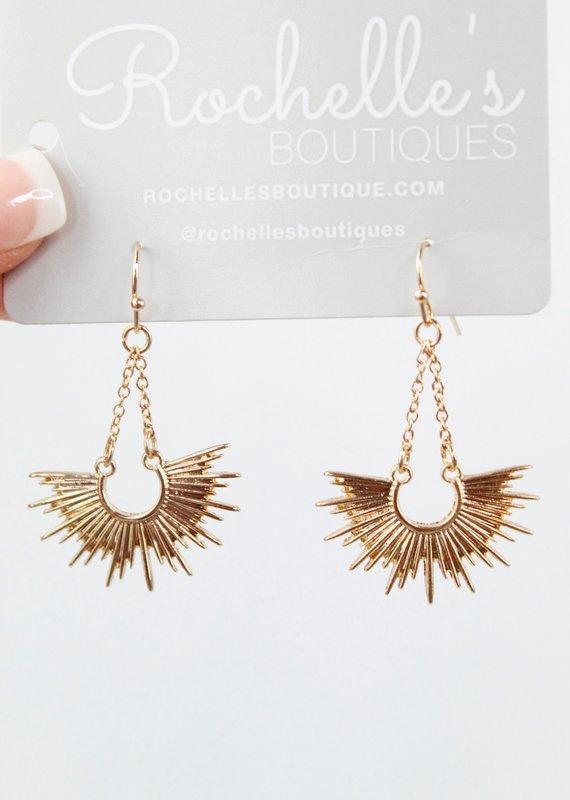 U.S. Jewelry House (New York Style) Sun Swag Drop Earrings
