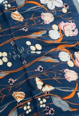 U.S. Jewelry House (New York Style) Floral Print Silky Bandana Scarf