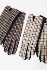 Look by M Tweed Plaid Gloves