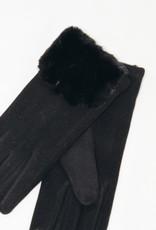 Look by M Faux Fur Cuffed Gloves