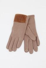 Look by M Faux Mink Fur Trimmed Gloves