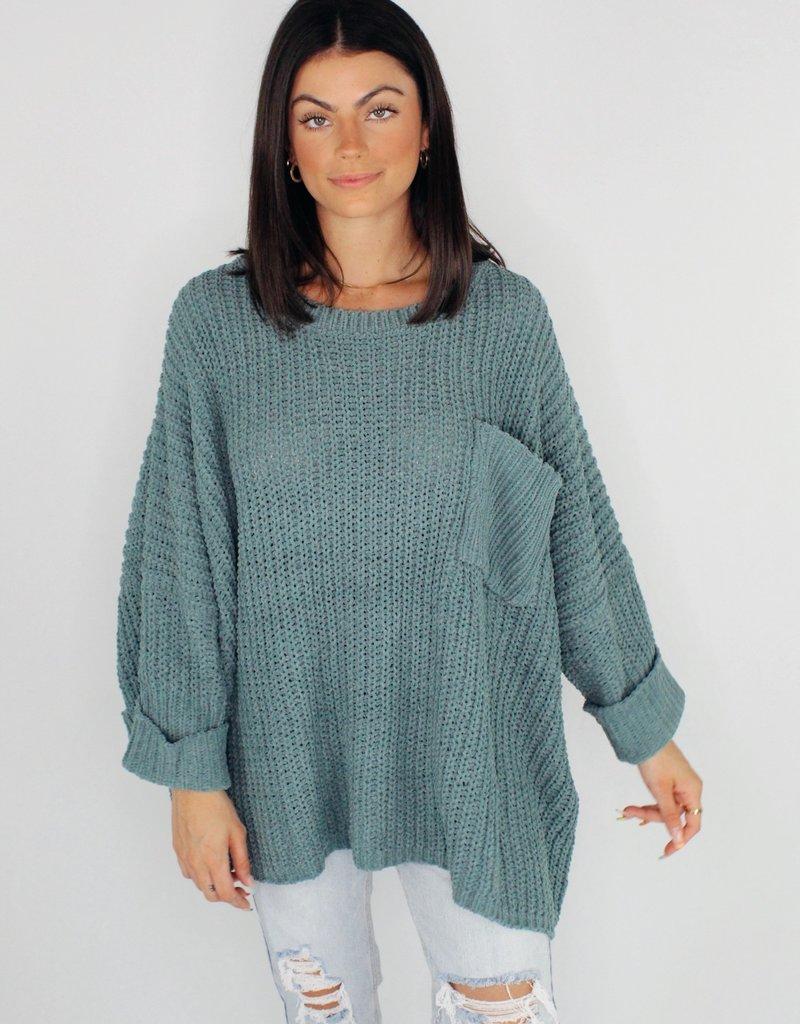 She + Sky Speak For Yourself Chenille Sweater
