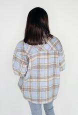 She + Sky Plaid Shirt Days Jacket