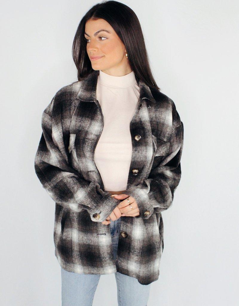 She + Sky Checkered Mate Jacket
