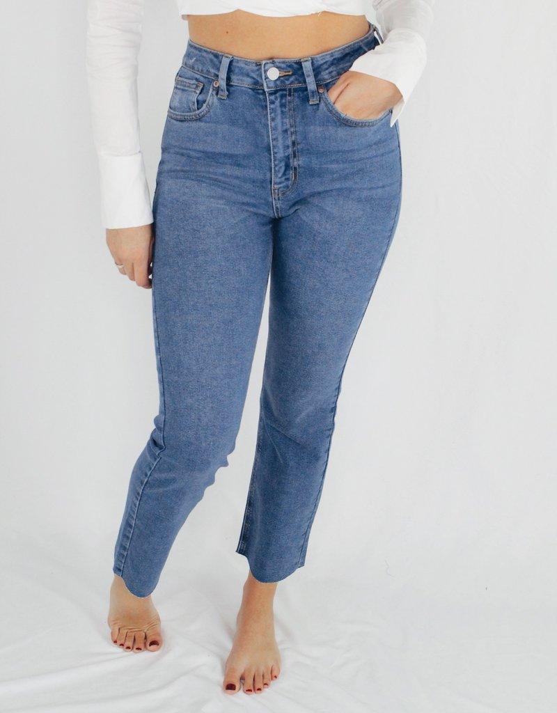 Just Black/USA (Just Panmako) Cut-Off Cropped Straight Leg