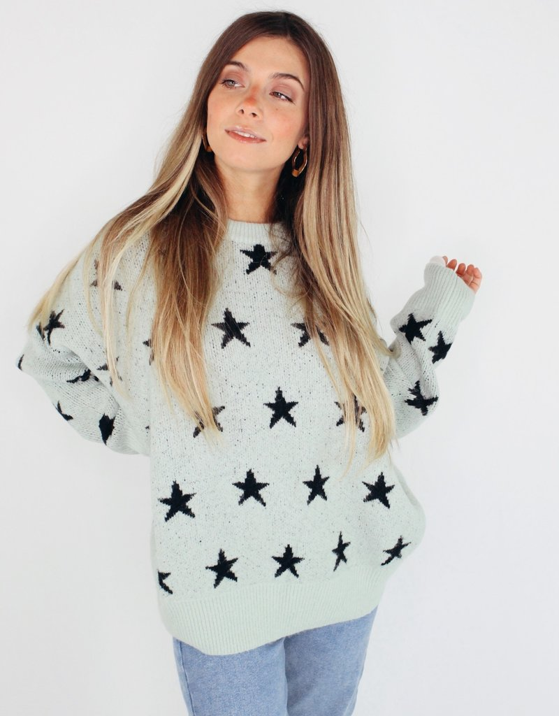 She + Sky Stars In Your Eyes Sweater