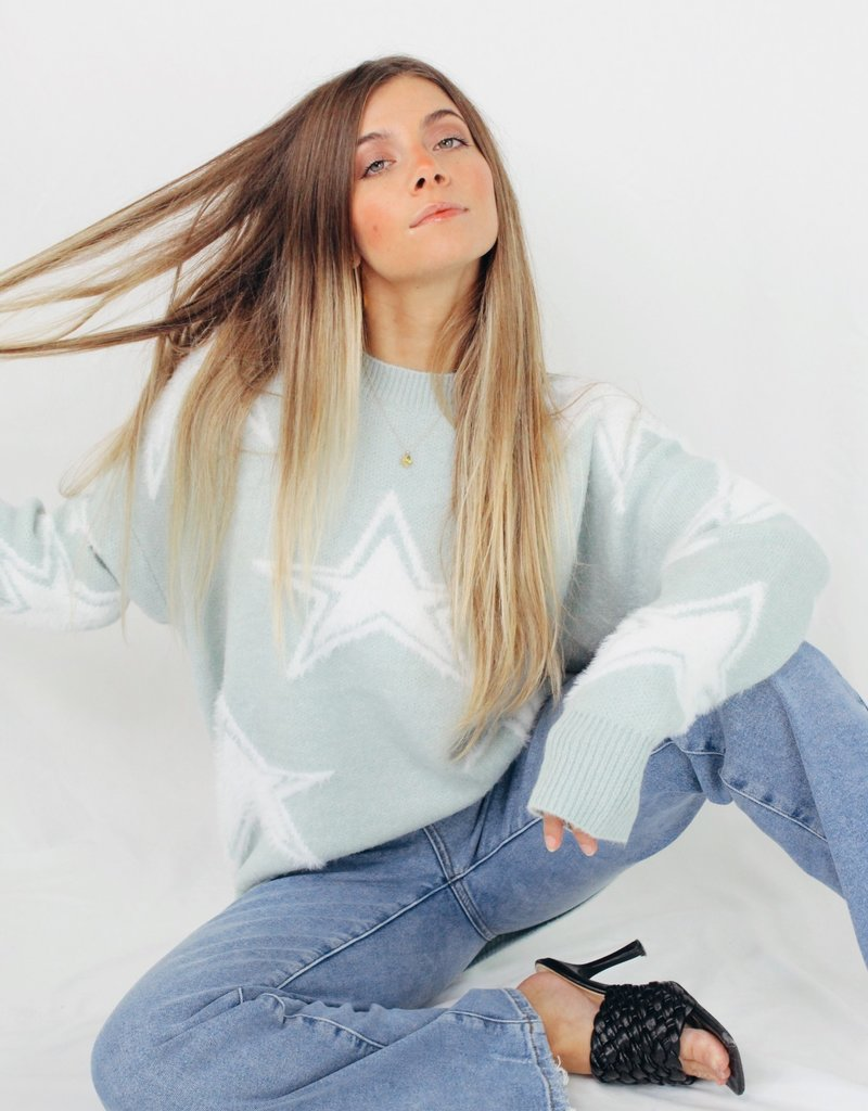 She + Sky Stars In My Eyes Sweater