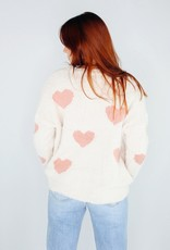 She + Sky Heart Beats Fast For You Sweater