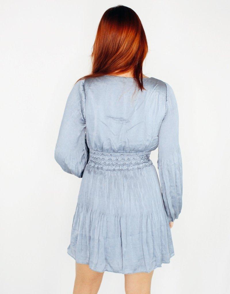 She + Sky All in the Pleats Satin Dress