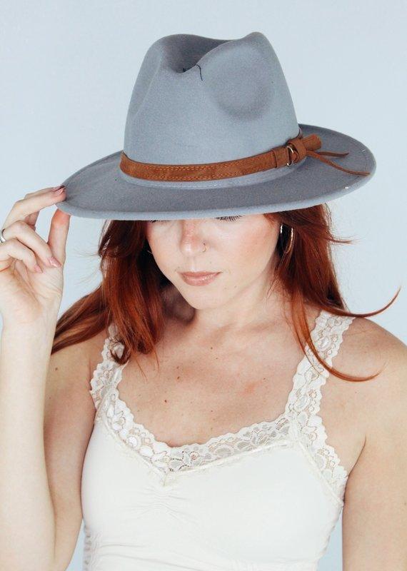 Suzie Q USA Retro Flat Brim Panama Hat