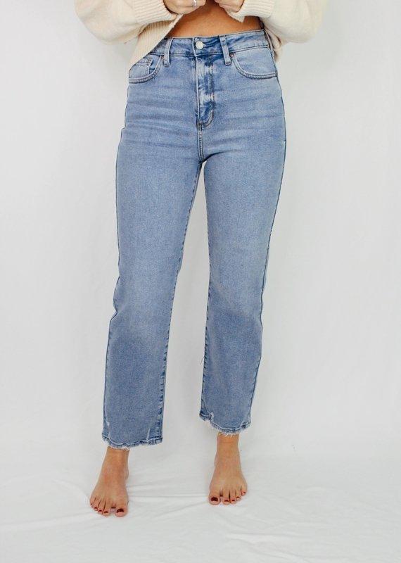Just Black/USA (Just Panmako) High Rise Clean Straight Leg