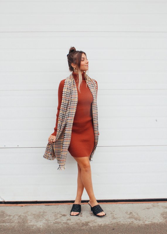 She + Sky Cozy Chic Sweater Dress