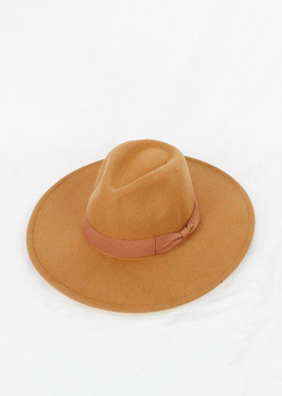 Suzie Q USA Wide Brim Fedora Hat w/ Bow Classic