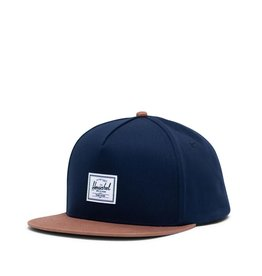 Herschel Dean Snapback Peacoat/Saddle Brown