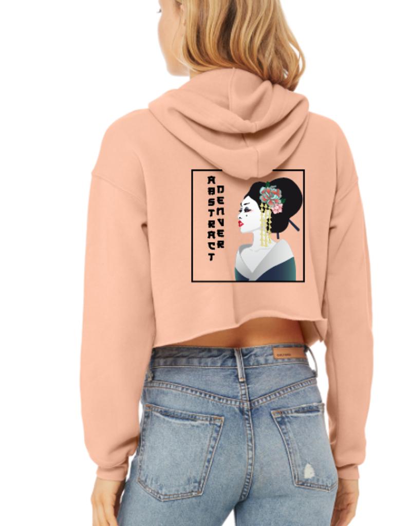 5280 Flower/Geisha Women's Cropped Hoodie