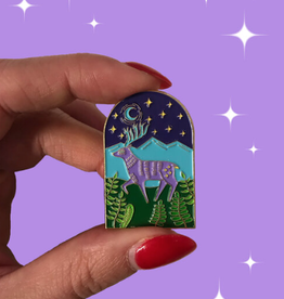 Deer Enamel Pin by Rachel Jablonski