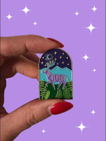 Deer Enamel Pin by Rachel Jablonski