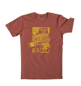 Dimensional Cannabis by Mike Giant Tee