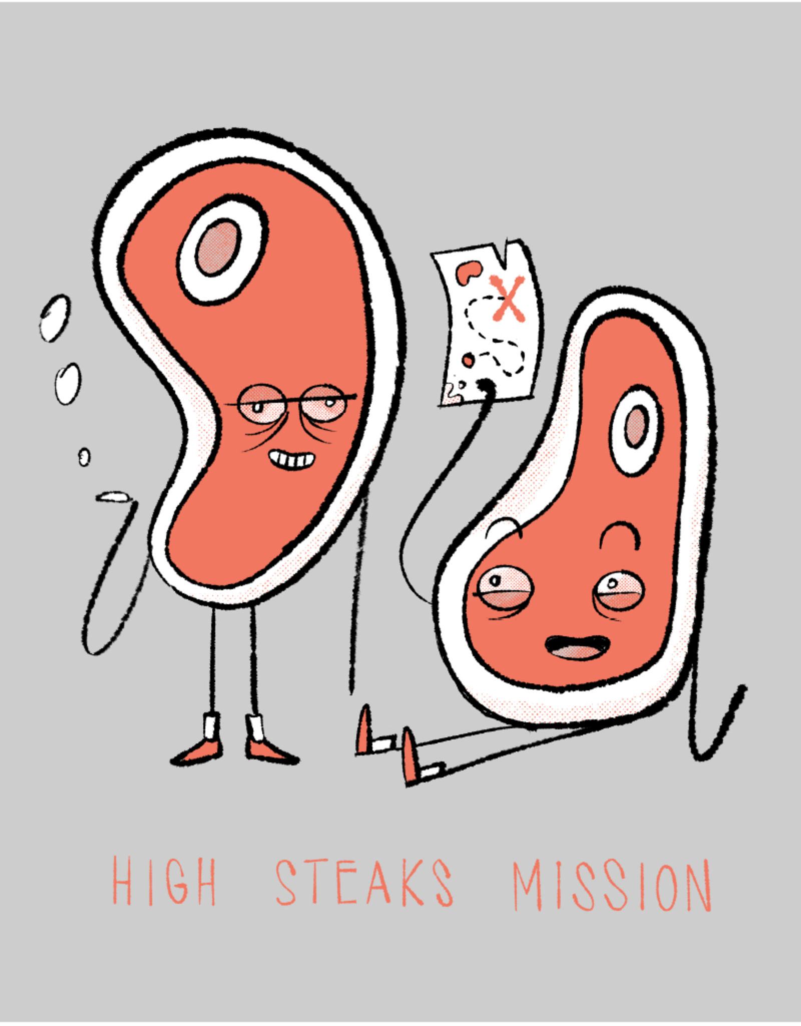 High Steaks Mission Mens Tee by Evan Lorenzen