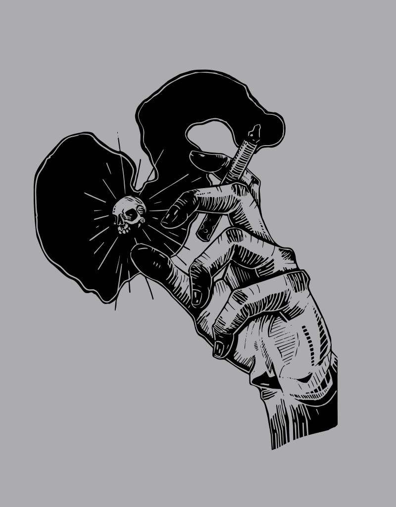 Ciggy Butt Brain by John Van Horn Tee