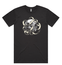 Skull & Ribbon by John Van Horn Tee