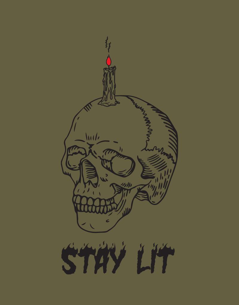 Stay Lit Button Down