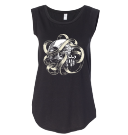 Skull & Ribbon Women's Tank by John Van Horn