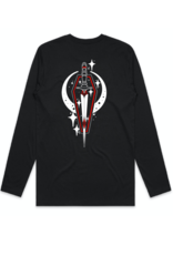 Abstract Coffin-Dagger by Chase Martines Long Sleeve