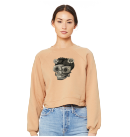 Skull Head Study by Brandon Maldonado Ladies Crop Sweatshirt