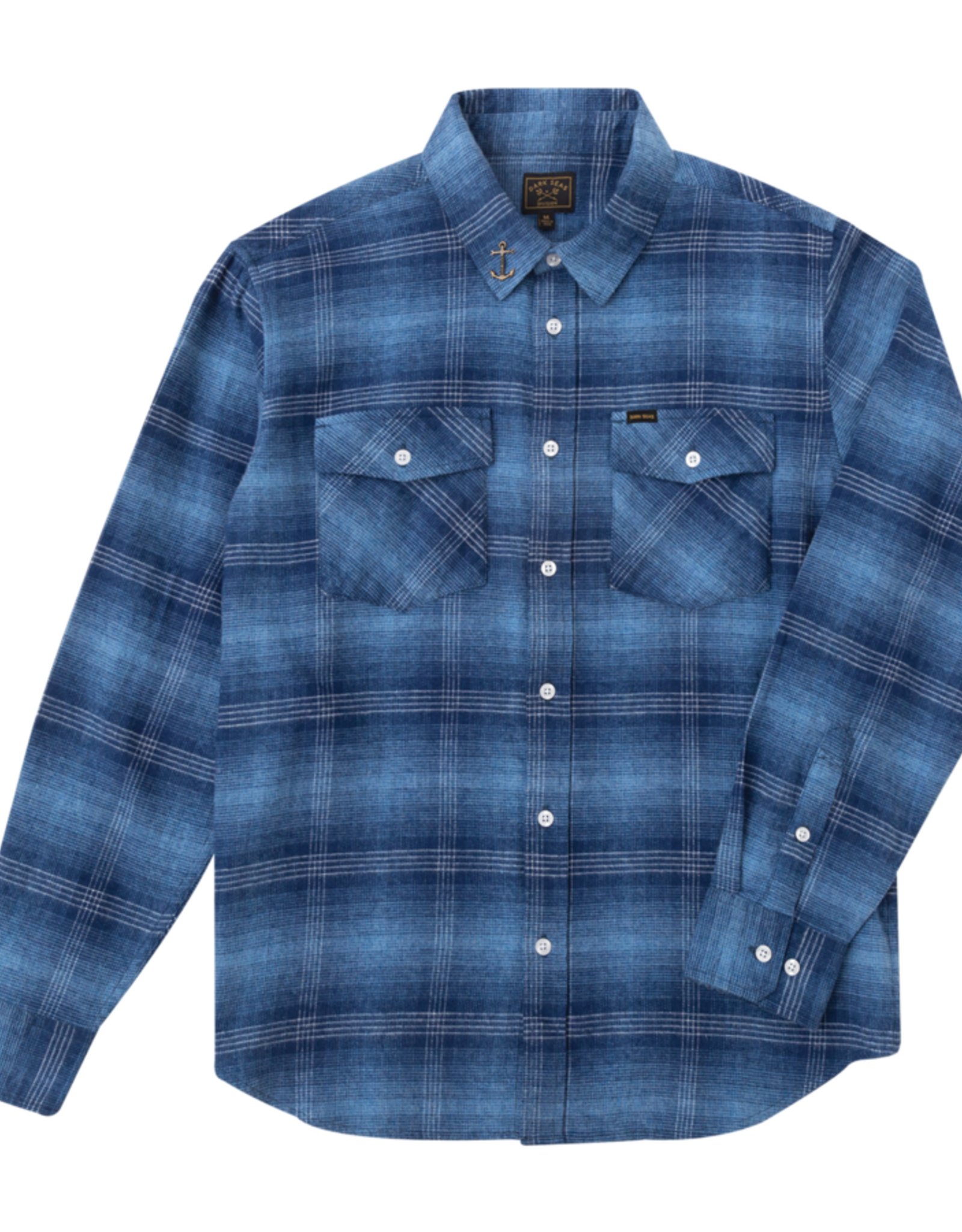 Dark Seas Stephens-Woven Flannel