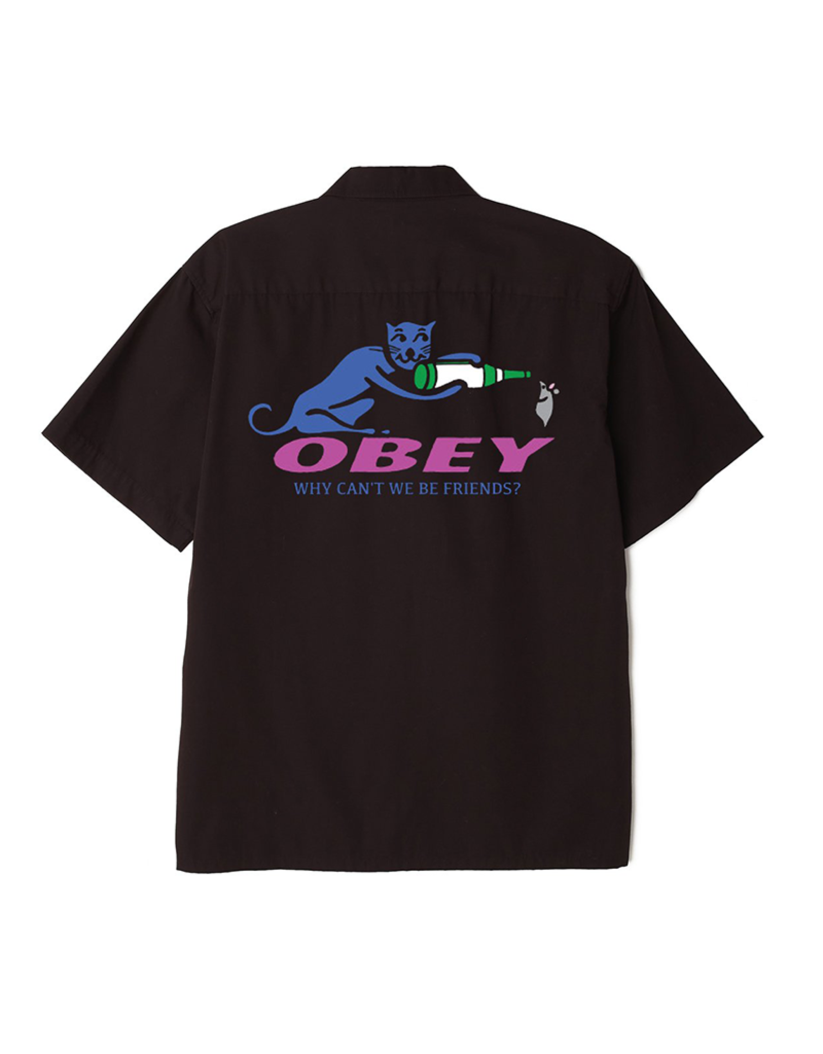 Obey Why Can't We Be Friends Button Down Shirt