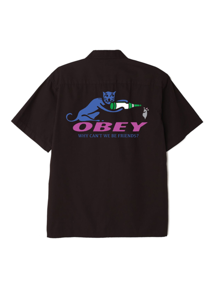 Obey Obey Why Can't We Be Friends Button Down Shirt