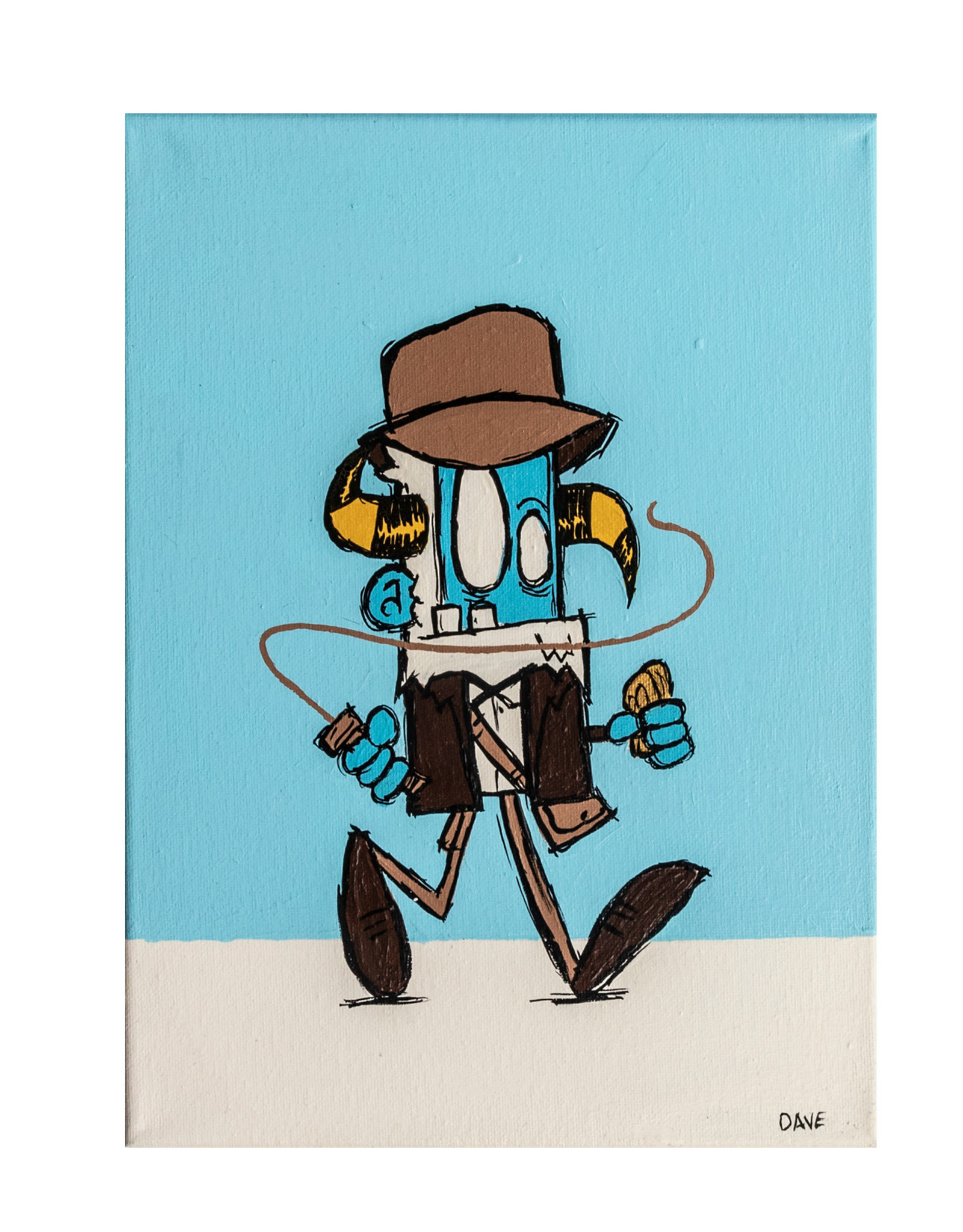 Dave Palmer Dave Palmer Original Artwork Yetiana Jones 9x11