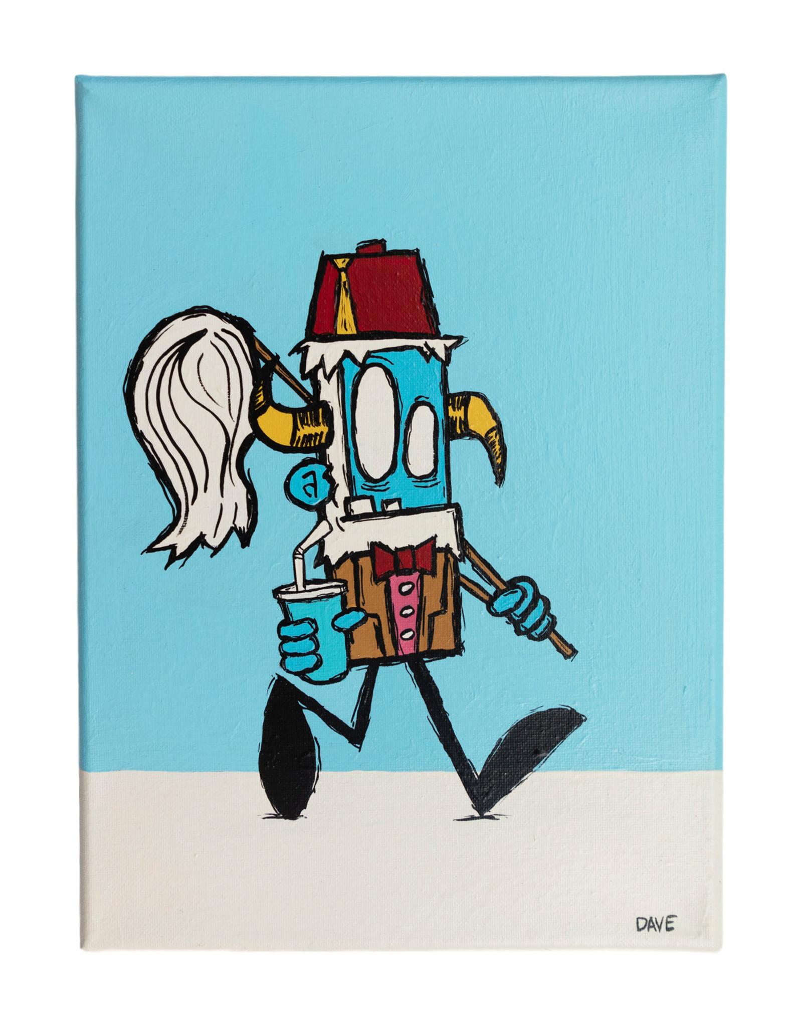 Dave Palmer Dave Palmer Original Artwork Dr WHO Yeti 9x11