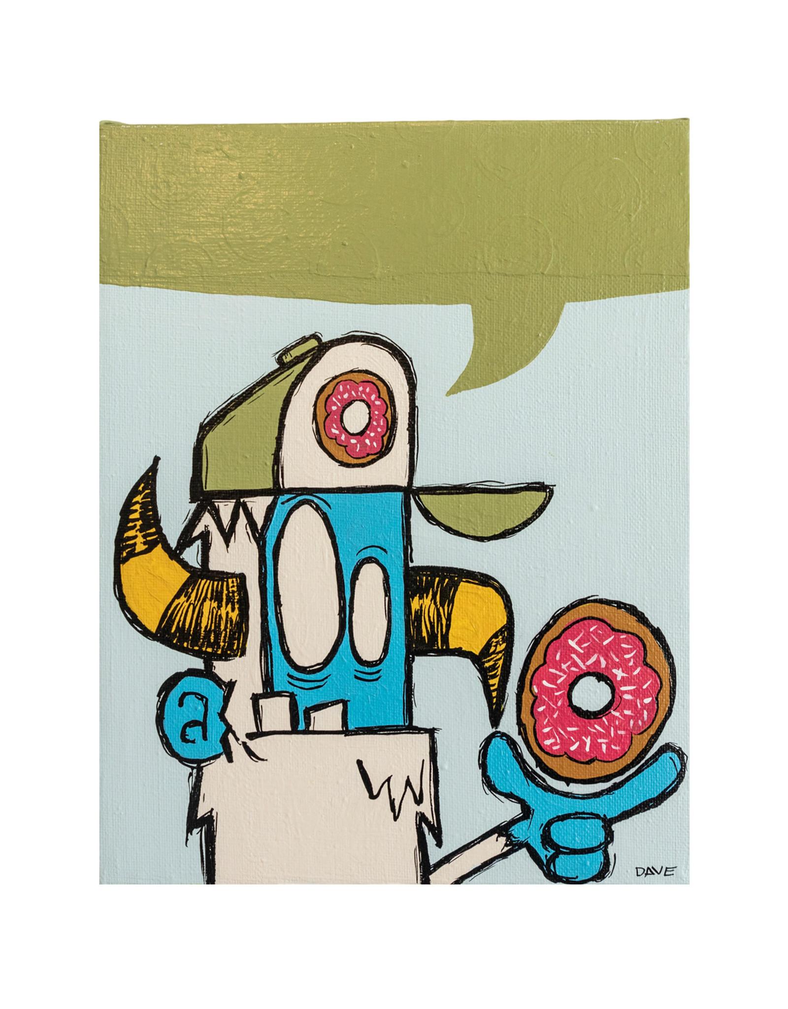 Dave Palmer Dave Palmer Original Artwork Donut 12x16