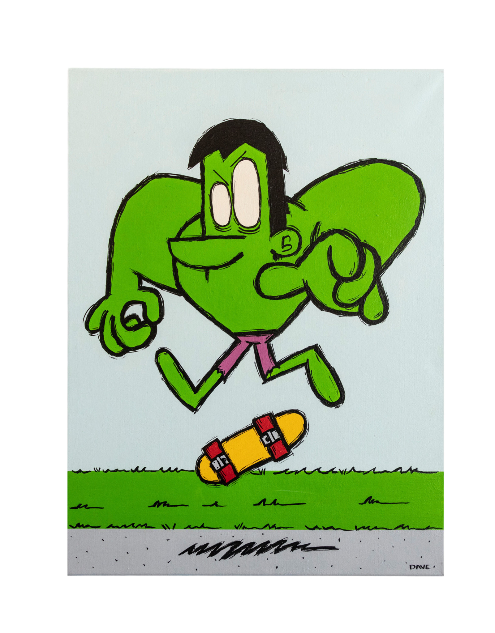 Dave Palmer Dave Palmer Original Artwork Hulk SK8! 18x24