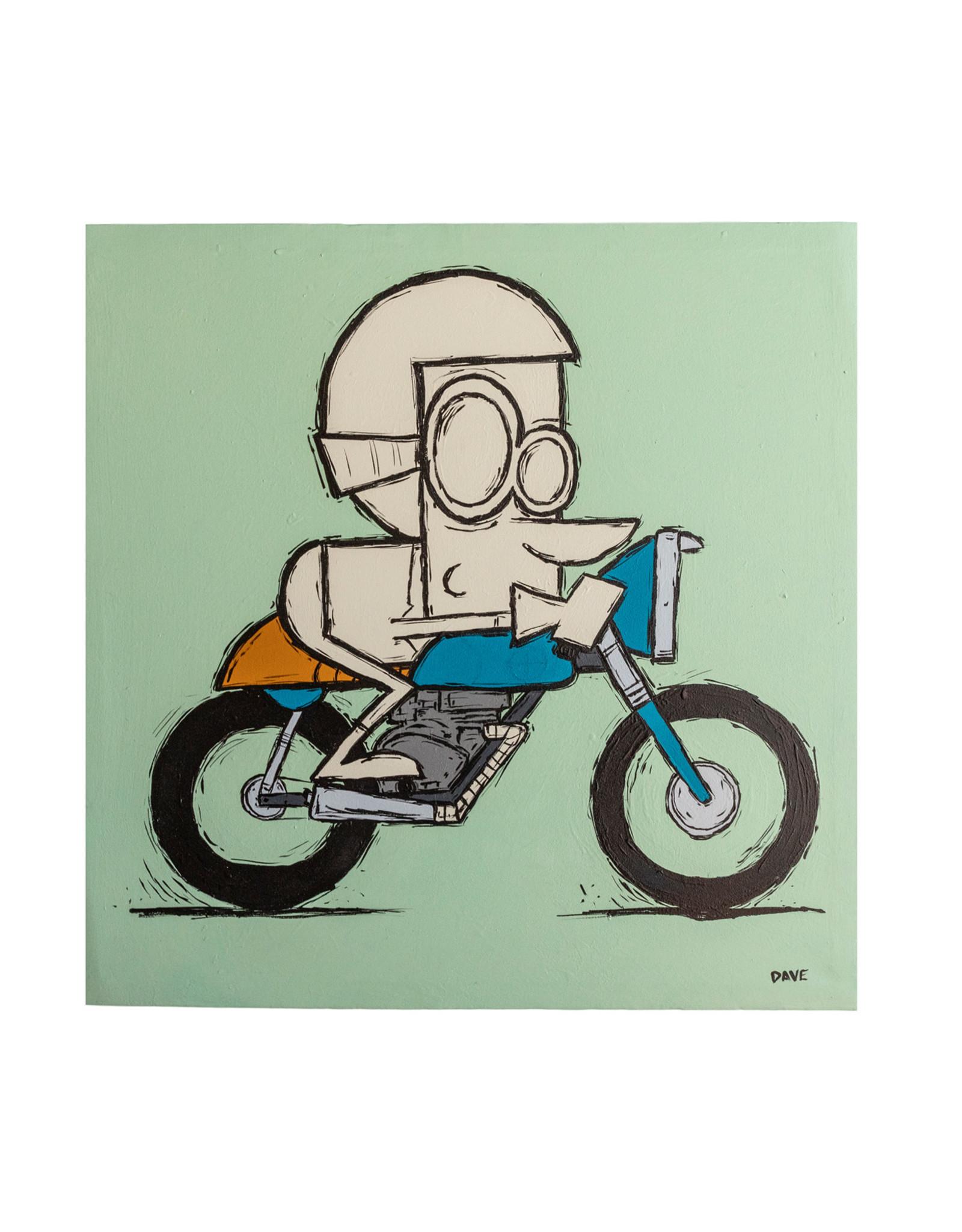 Dave Palmer Dave Palmer Original Artwork Cafe Racer 20x20