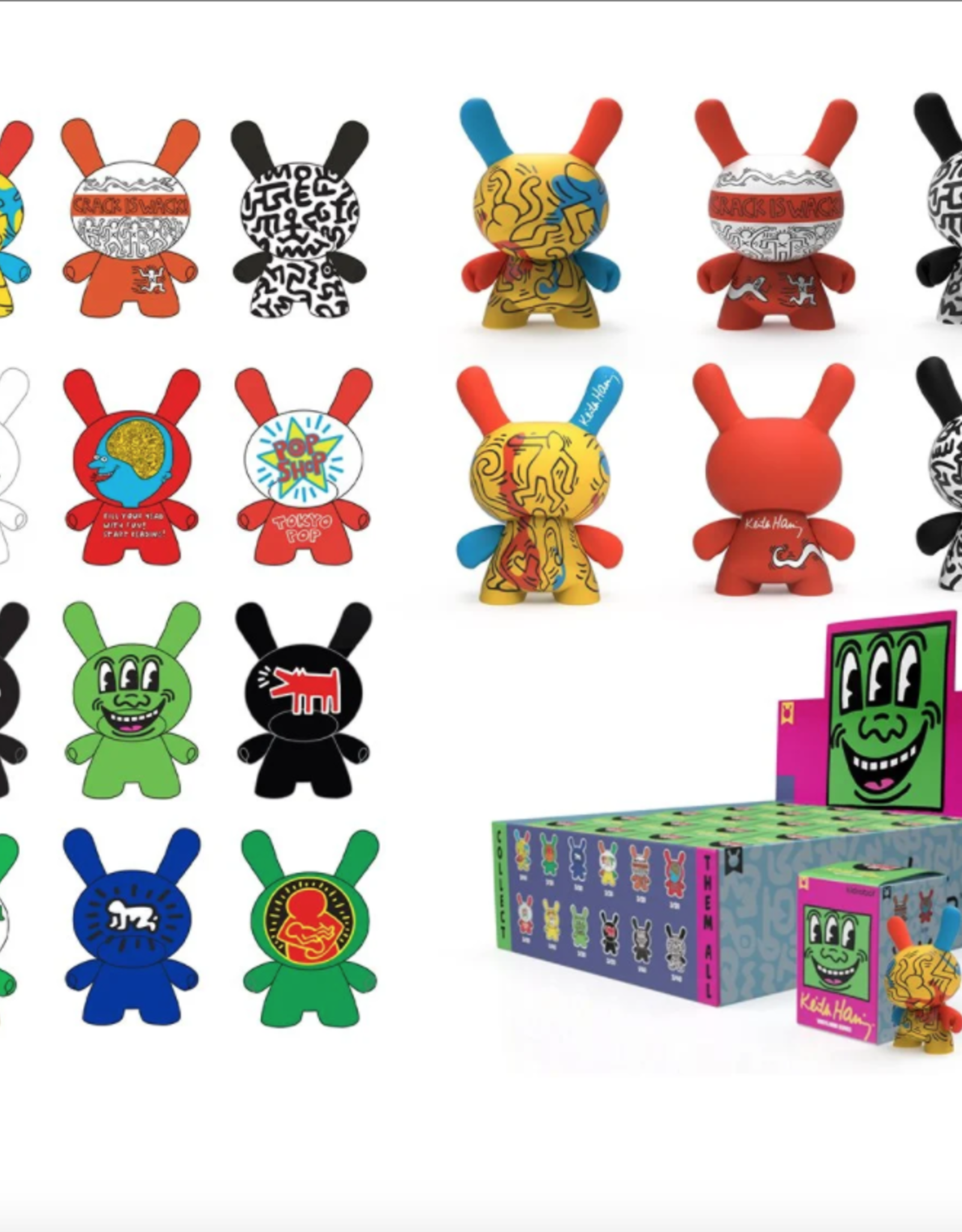 "Keith Haring 3"" Dunny Mini Series"