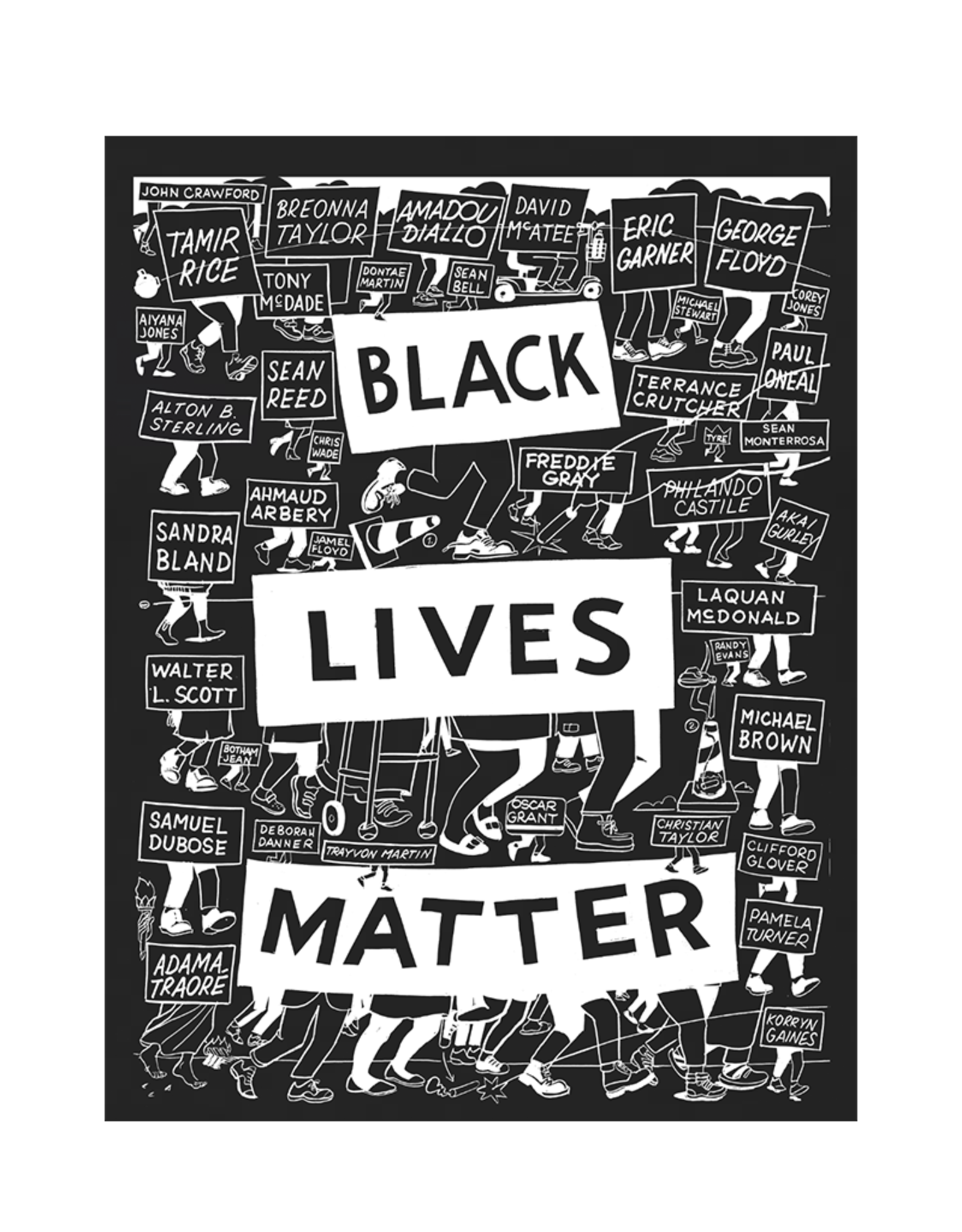 BLACK LIVES MATTER Mens Tee