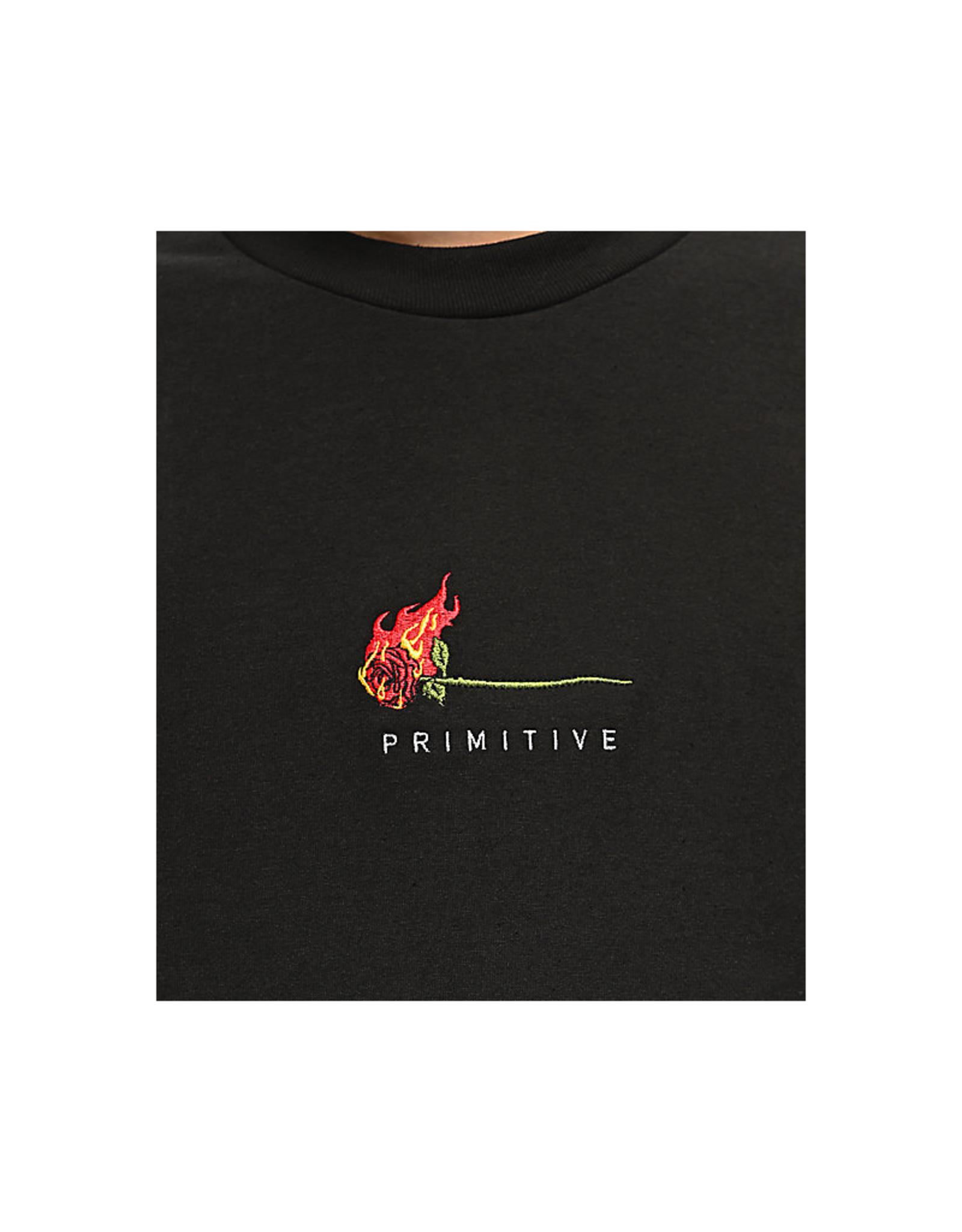 Primitive Burning Rose Tee