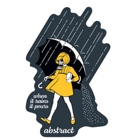 When it Rains Sticker