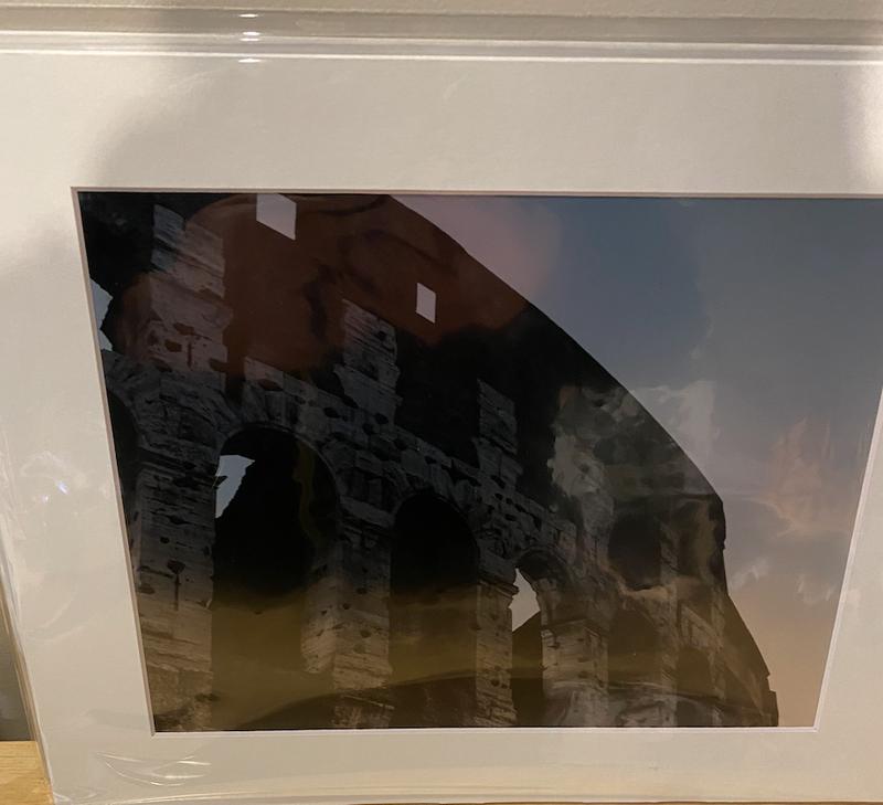 Circe Baumgartner Metallic Giclee Print Rome 1